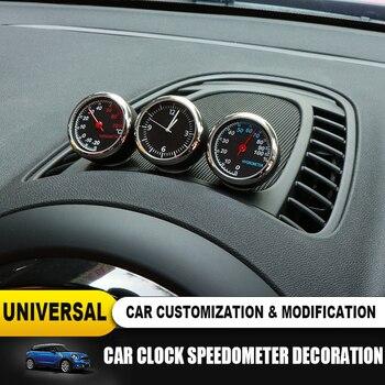 חדש רכב פנים שעון מדדי לחות מדחום דקורטיבי עבור מיני קופר JCW S F55 56 F60 R55 R56 R60 Countryman רכב אבזרים