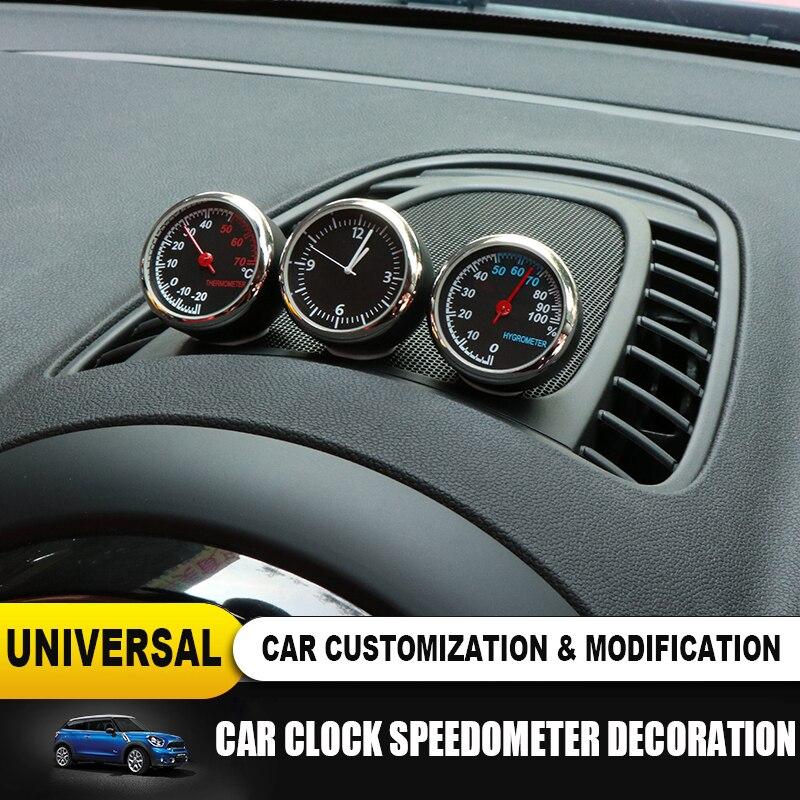 New Car Interior Clock Hygrometer Thermometer Decorative For Mini Cooper JCW S F55 56 F60 R55 R56 R60 Countryman Car Accessories