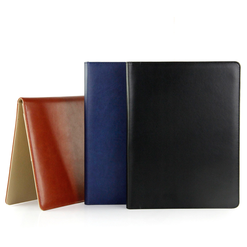 A4 high quality leather manager management folder multi-function combination organizer manager file with 8-bit calculator qshoic a4 multi function business manager clip to high grade leather with calculator folder file pu leather document folder