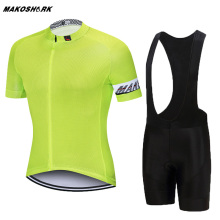 Pro Fluorescent Green Short Sleeve Men's Cycling Jerseys Set Mountain Bike Clothes Cycling Clothing Ropa Ciclismo Cycling Kit pro fluorescent green short sleeve men s cycling jerseys set mountain bike clothes cycling clothing ropa ciclismo cycling kit