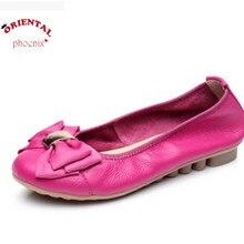 Spring Ladies Shoes Slip On Autumn Womens Flat Shoes Genuine Leather Women Ballerina Shoes Flats New 2016 Sapatilhas Femininas