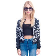 Hot Sales  Women Bomber Jacket 3D Printed Chaquetas Mujer Ou