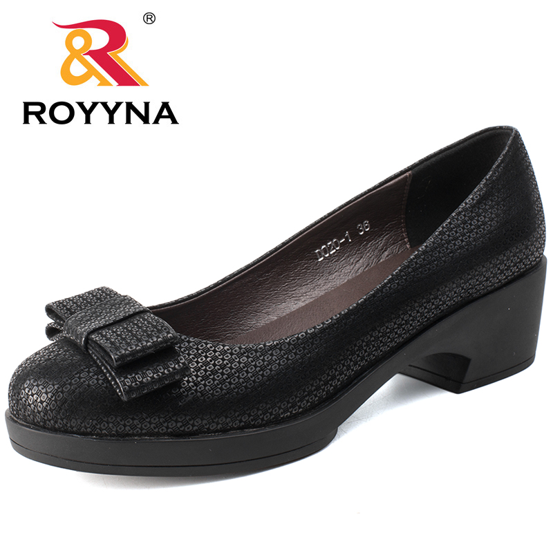 ROYYNA 2017 New Style Women Pumps Shallow Women Shoes Butterfly-knot Casual Shoes Outdoor Walking comfortable Fast Free Shipping royyna new sweet style women sandals cover heel summer gingham women shoes casual gladiator ladies shoes soft fast free shipping