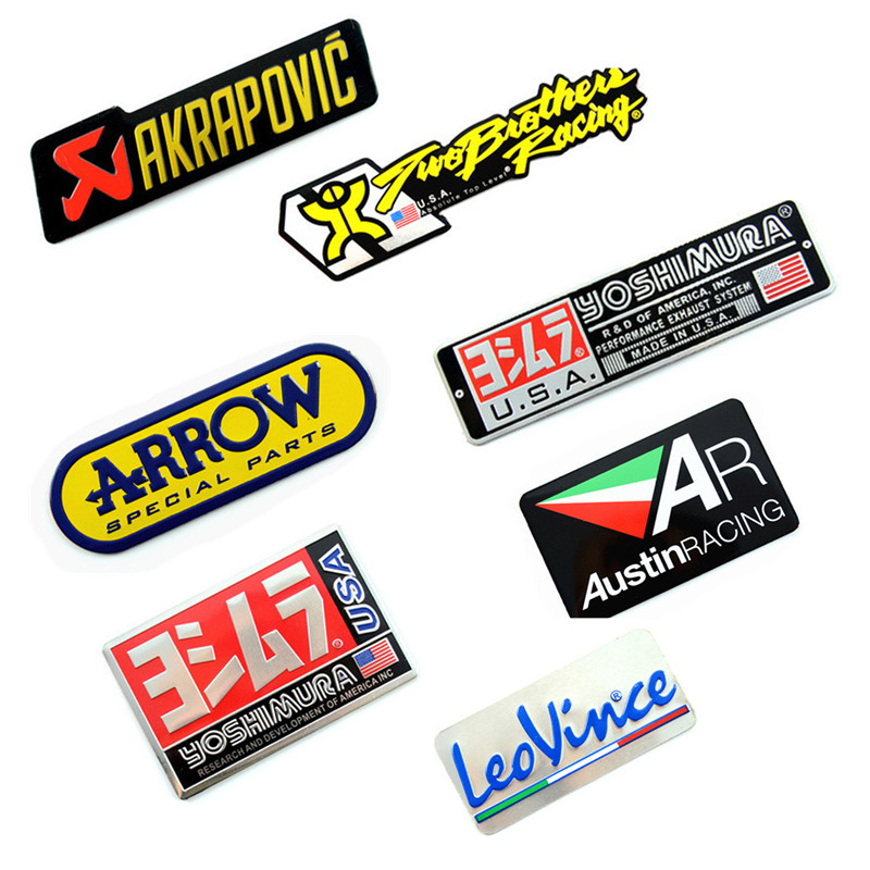 Arrow Motorcycle Decal Sticker Muffler Exhaust-Pipes YOSHIMURA Leovince Car-Mivv AKRAPOVIC title=