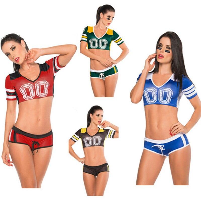 b11e46e6914 Vender bien Multicolor fútbol trajes de porristas conjunto deportivo papel  de mujeres ropa de traje de bebé espectáculo Orden de mezcla en Disfraces  sexy de ...