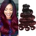 Rosa Hair Products Brazilian Virgin Hair Body Wave 3 Bundles Grace Ombre Brazilian Hair 99J Burgundy Brazilian Hair Extensions