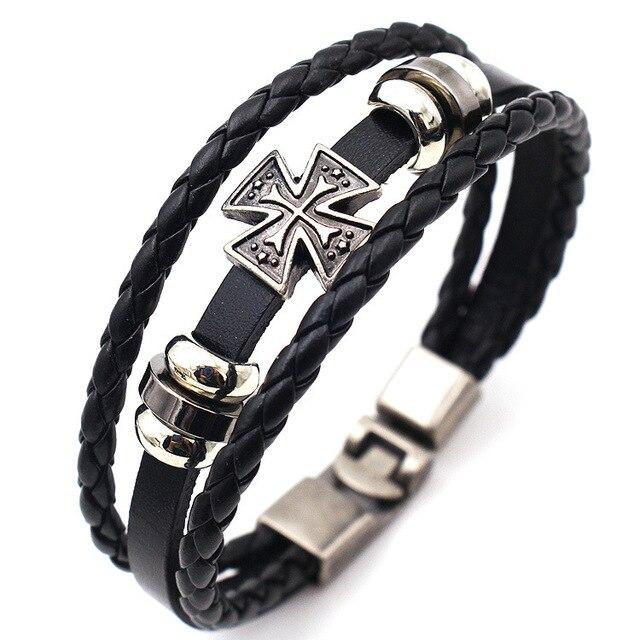 Leather Cross Bracelets...