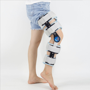 adjustable Knee Orthosis Support Brace Joint Stabilizer Fracture Fixed Guard Splint Leg Protector with belt