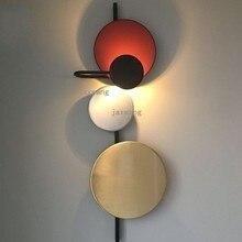 цена на JAXLONG Nordic LED Wall Lights for Home Lustre Loft Decor Living Room Wall Lamps Hotel Hall Iron Cafe Wall Sconce Lamp lighting