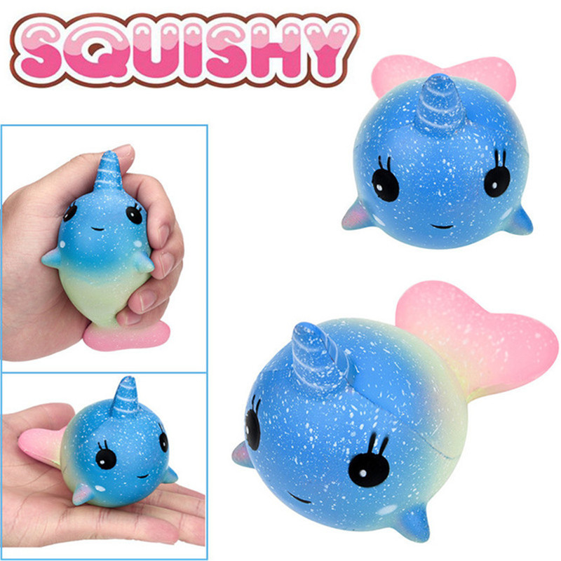 2018 Galaxy Whale Scented Squishy Charm Slow Rising 12cm Simulation Kid Toy For Children Adults Relieves Stress Anxiety