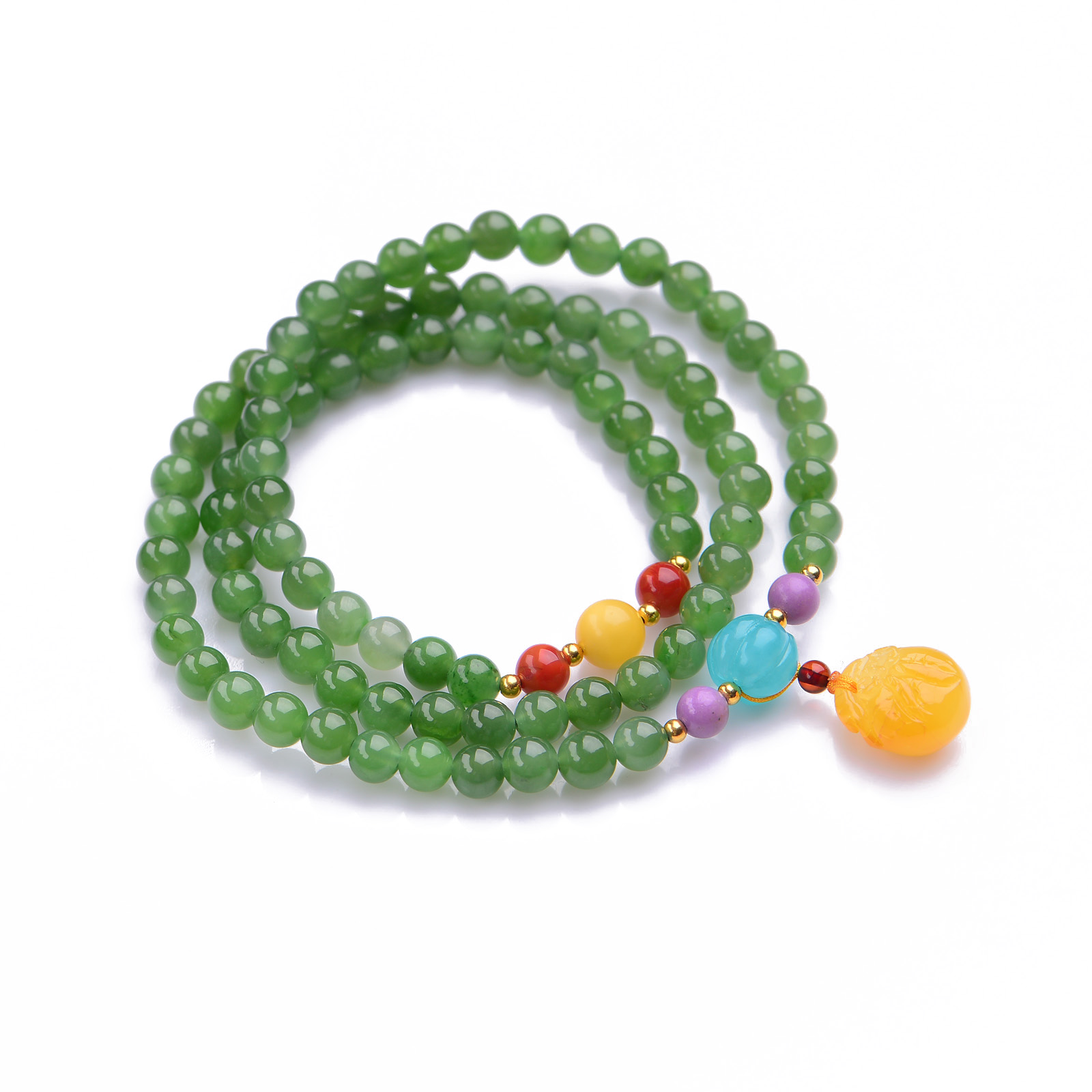 Handmade Authentic Green Crystal Bracelets 5.8mm