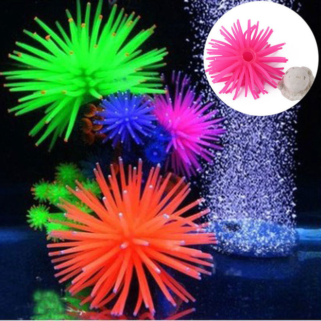 halloweenchristmas aquarium decorations multicolor artificial sea urchin ball fish tank coral ornament decor landscape