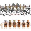 New 6pcs Funny Things WW2 Anti Fascist Military Struggle Death Squad Toys Block Building Blocks Children Toy Christmas Gifts