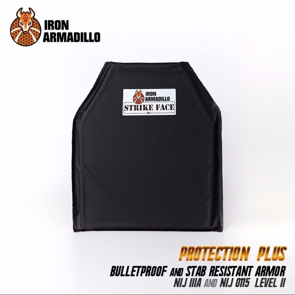 AA Shield Bullet Proof & Stab Proof Soft Body Armor Plate Aramid Core NIJ Lvl IIIA 3A E2 Stab Resistand Plate Level II 10x12#2 aa shield bullet proof soft panel body armor inserts plate aramid core self defense supply nij lvl iiia 3a 8x10