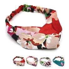 1PC Boho Style Knot Womens Headband Bohemian Bandage Satin Ribbon Hair Rim Bezel Accessories
