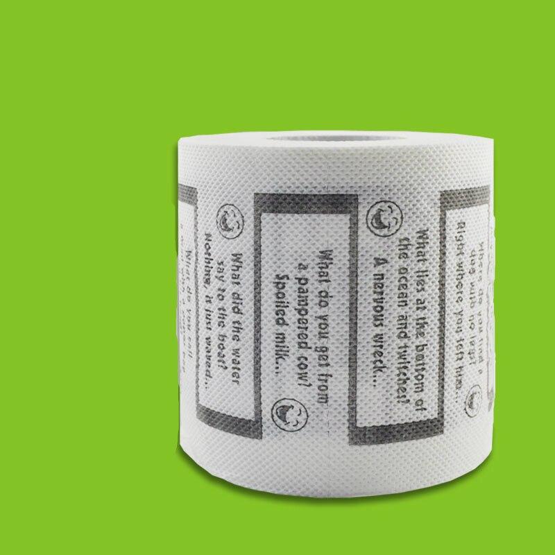 3packs 30m/pack English Joke Passage Design Paper Toilet Tissues Roll Novelty Toilet Tissue Black White Wholesale