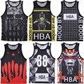 Comercio al por mayor Al Por Menor Envío Gratis Hombres Tank Top Chaleco capucha en avión HBA Hip Hop jersey Culturismo Ropa camisa