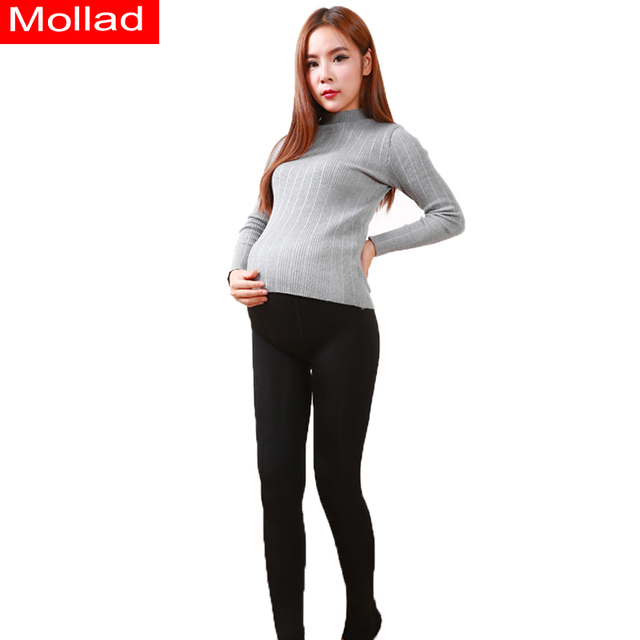 Autumn winter thickening and wool nylon pants of pregnant women big yards pants warm leggings on foot