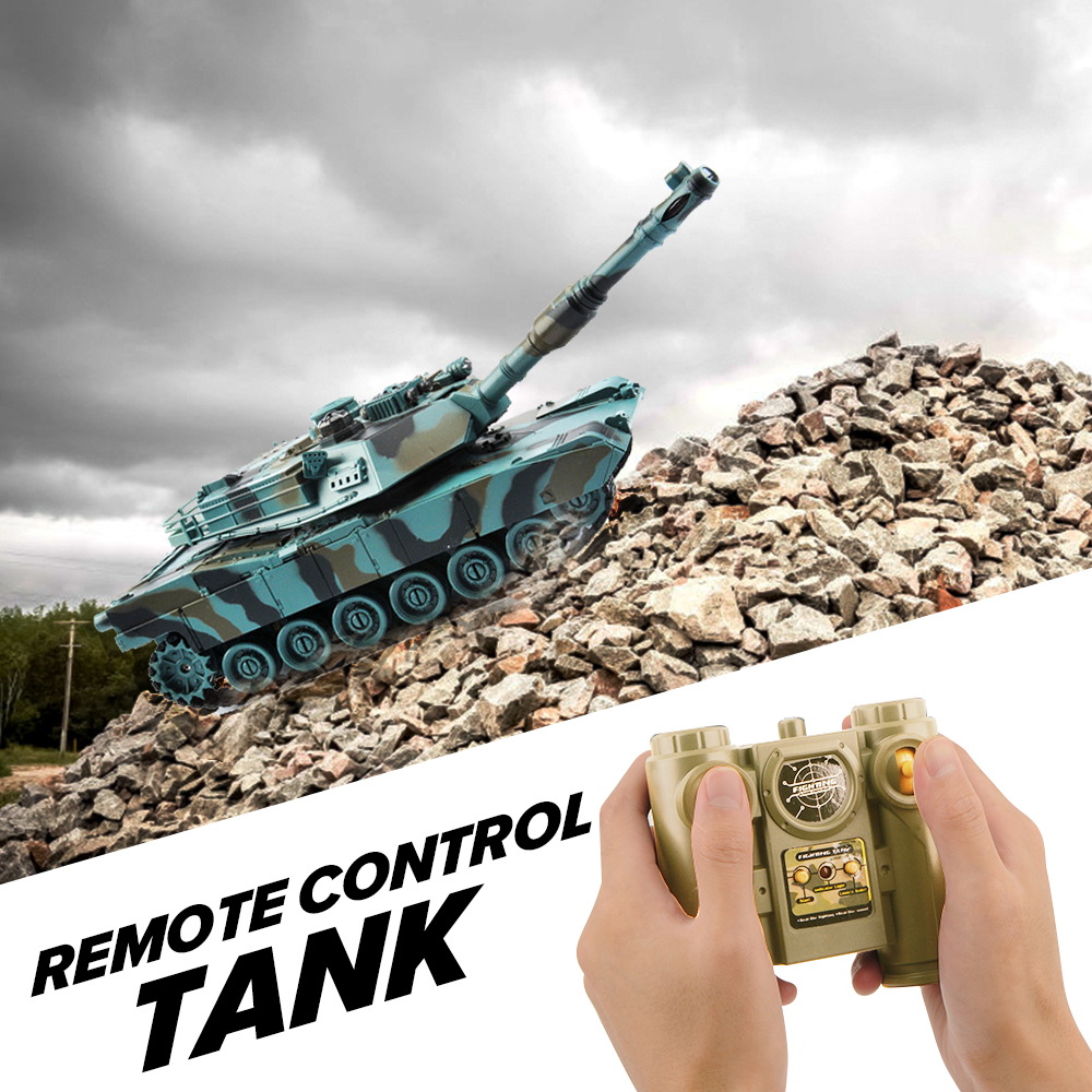 Image 3 - 1/28 RC Tank Remote Control Toys Battle RC Tank M1A2 Automatic Presentation Tanks Via Musical Scal Rc Tank For Boys Xmas Gifts-in RC Tanks from Toys & Hobbies