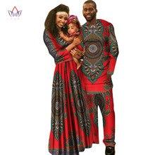 В африканском стиле Одежда для детей Дашики Семья Для мужчин рубашка с длинным рукавом Для мужчин набор плюс Размеры Африканский Костюмы Макси-платья с длинным рукавом WYQ22