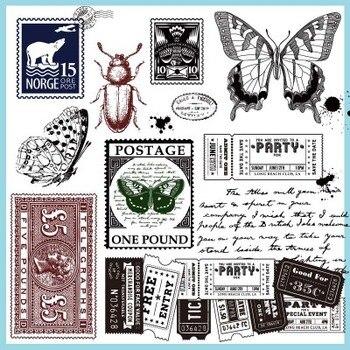 Sello de carácter Retro de silicona transparente sello de la cuenta de mano de insectos DIY Decoración