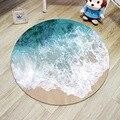 Moderne 3D teppiche für schlafzimmer runde boden matte bereich teppich dekoration anti slip teppiche für wohnzimmer picknick im freien strand teppich-in Teppich aus Heim und Garten bei