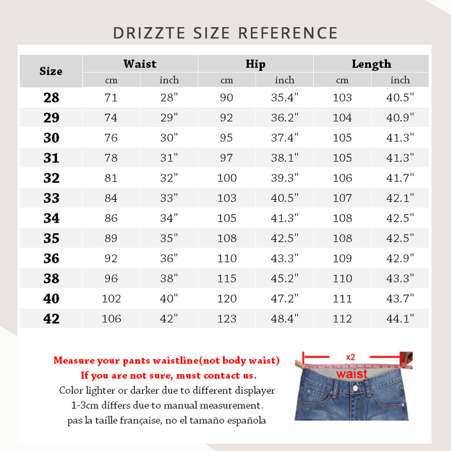 offizielle Bilder Infos für Spielraum Drizzte Jeans Mens Brand High Quality Stretch Blue Denim Jeans Fashion  Pleated Pocket Trousers Pants Size 33 34 35 36 38 40 42