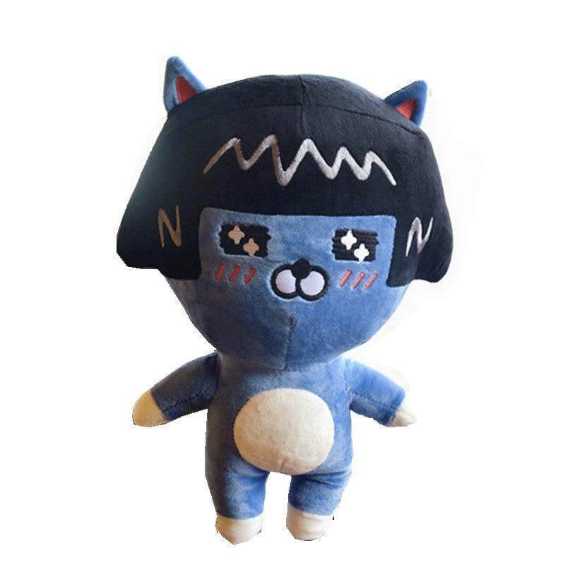 Korea MSN Ugly monster plush blut cat with hat stuffed present for kids funny toys for children Swag toys for baby гарнитура genius hs 04su с устранением шумовых помех для msn