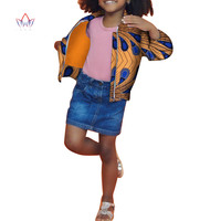 2018 Dashiki African Clothing baby girl clothes winter full sleeve baby girl winter cloth cotton kids jackets for girls WYT198