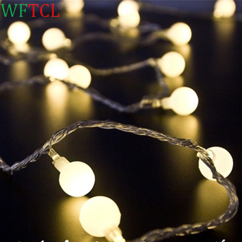 WFTCL LED string lights 10M 100 bulbs Globe String Lights holiday Lighting LED Bulb String for Indoor Outdoor holiday Decoration