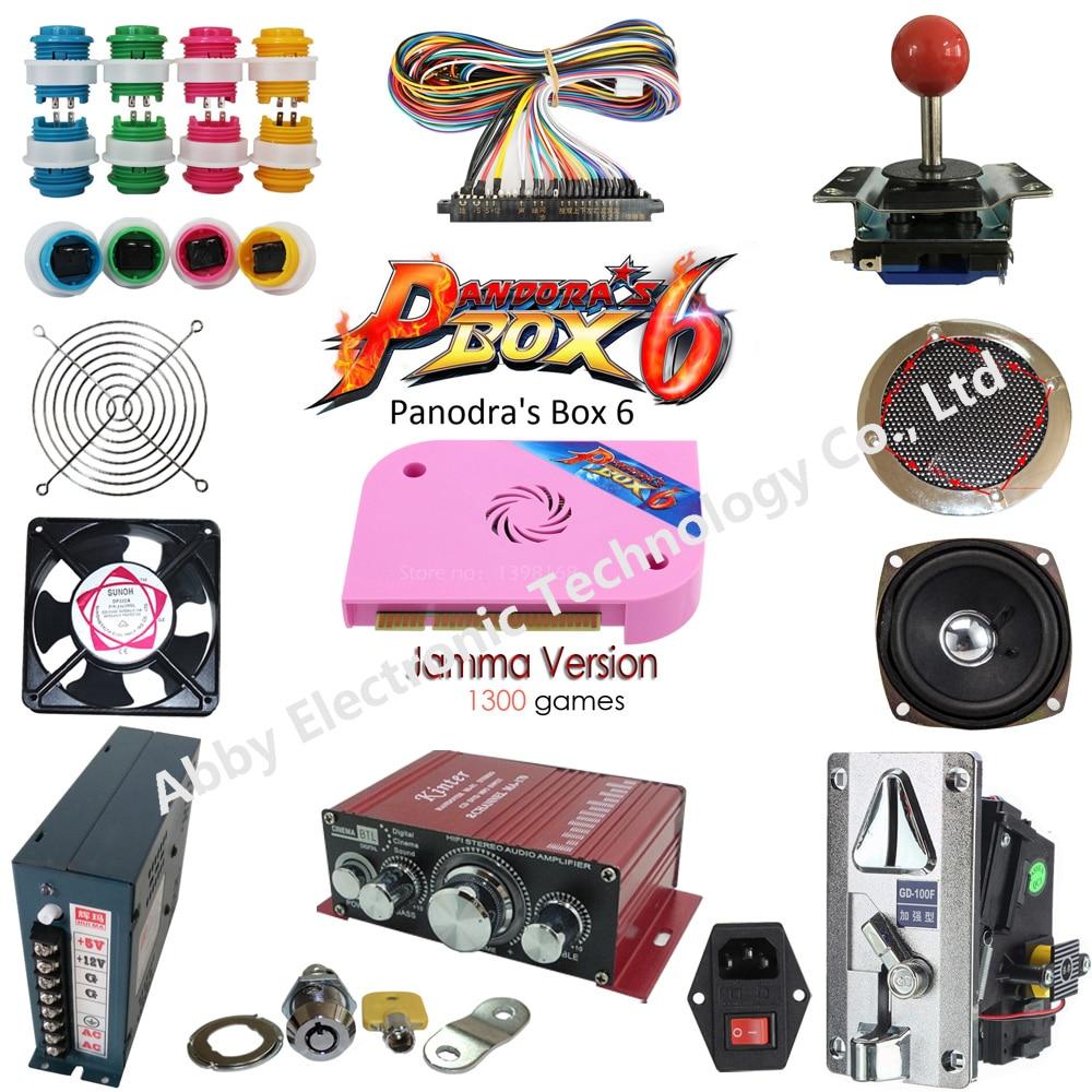 Arcade Jamma mame arcade parts kit 2 joysticks 16 buttons 1 jamma cable high quality