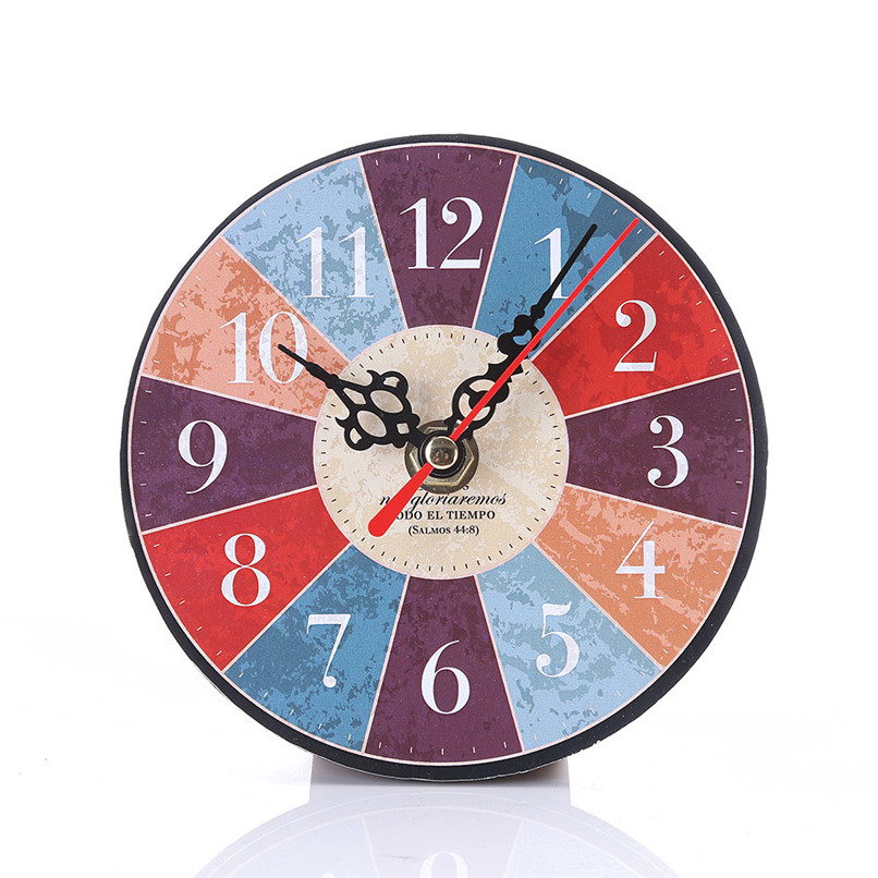 1PC Wall Clock Modern Design wall watch Vintage Style Non-Ticking Antiqu Wall Clock horloge murale reloj de pared decorativo D19 (22)