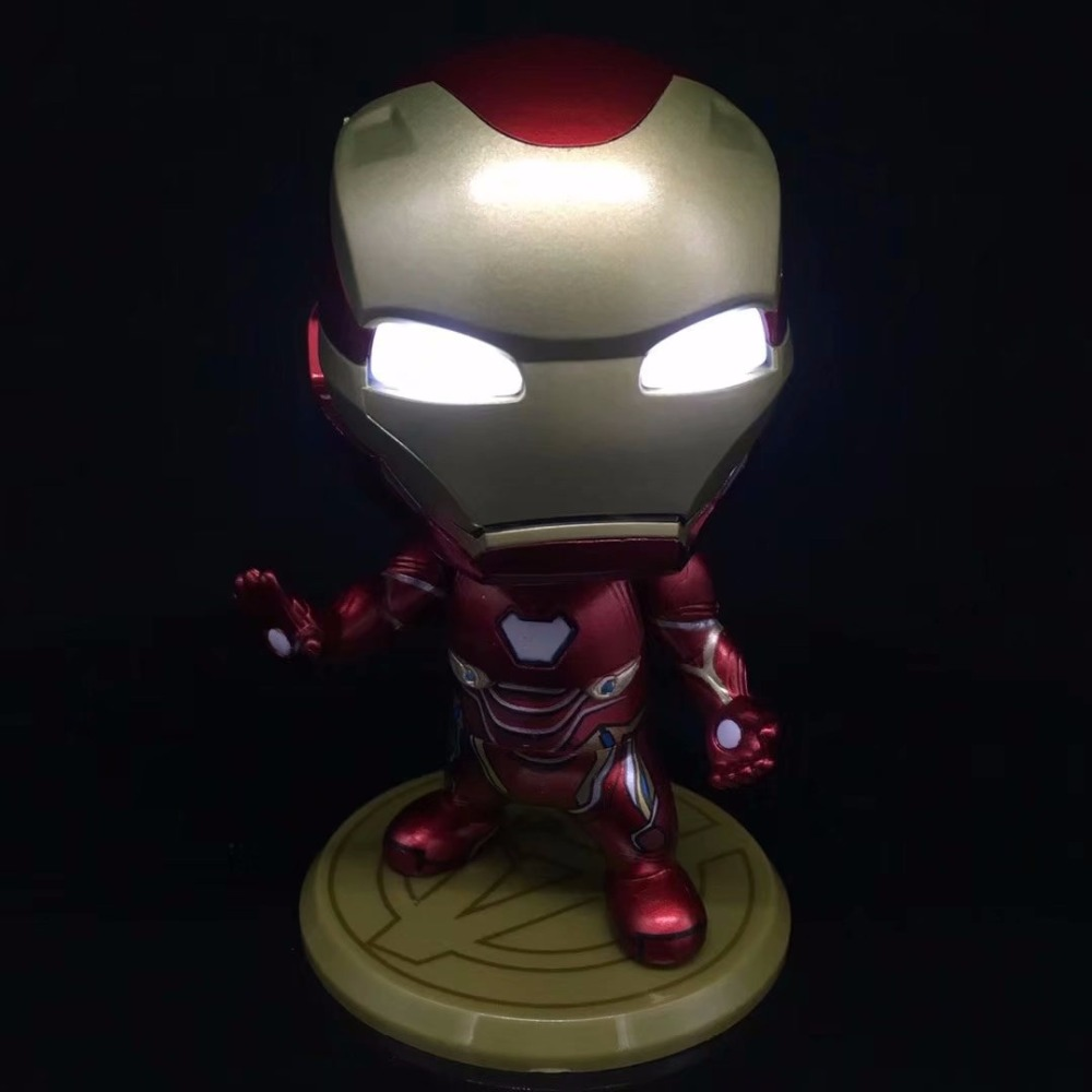 The Avenger Ironman Figures stand Iron man MK50 Super Hero Tony Stark PVC Action Figure Model Toy With Light Collection Kid gift