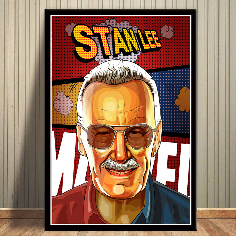 14x21 24x36 035 Art Poster Marvel Classic Stan Lee Collage Comic Book Writer
