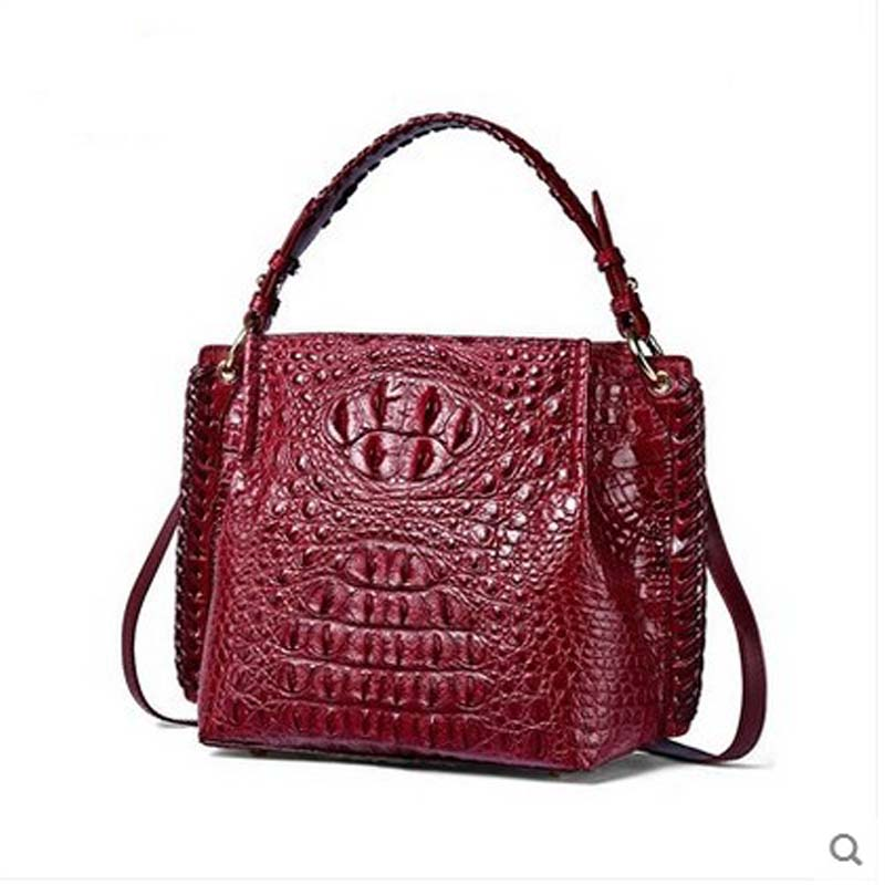 yuanyu 2017 new crocodile leather women handbag leather shoulder bag Thai imported real crocodile handbag slanting bag yuanyu real thai crocodile purse female long clutchse crocodile leather bag more screens hand caught bag women day cluthes