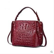 yuanyu new crocodile leather women handbag leather shoulder bag Thai imported real crocodile handbag slanting bag
