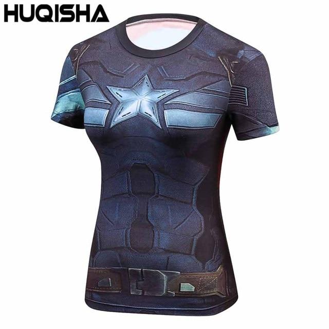 eb872ffea6 Senhoras Marvel Comics Superman Batman Maravilha Camisas De Compressão  Compressão Camiseta Feminina das Mulheres Calças