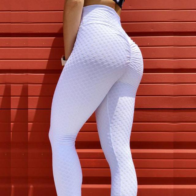 Textured Warm Leggings Fitness Workout Elastic Girls