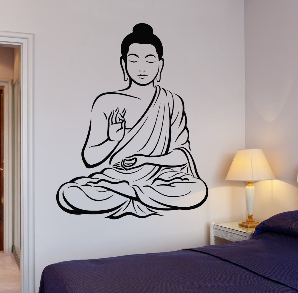 Zen Bedroom Wall Decor : Buddha tree blossom yoga ? vinyl wall decal
