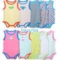 New BABY BODYSUIT 5PCs 100% Cotton Infant Body Vest Clothing Cart Jumpsuit Baby Boy Bodysuit Cartoon Summer roupas de bebe