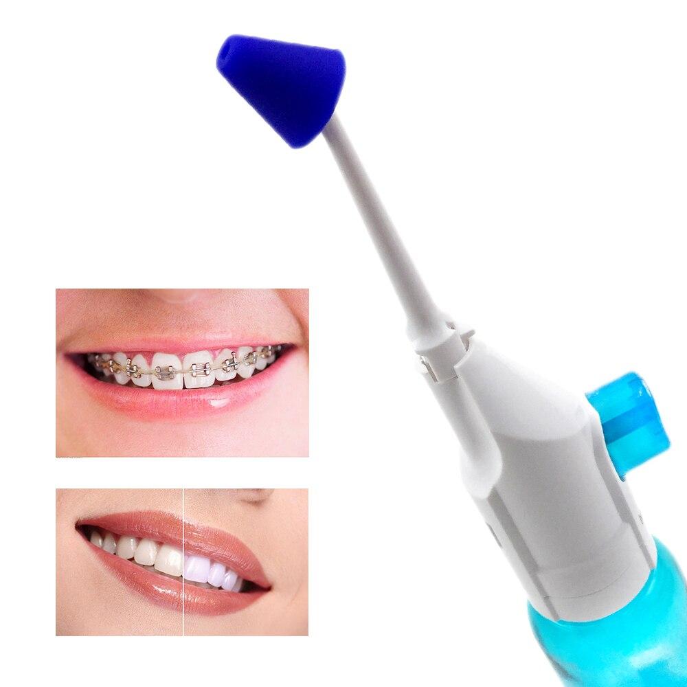 AZDENT 2pcs Nozzles Portable Oral Irrigator Pressure Dental Water Jet Flosser Nasal Irrigators Mouth Denture Tooth Cleaner 180ml 2