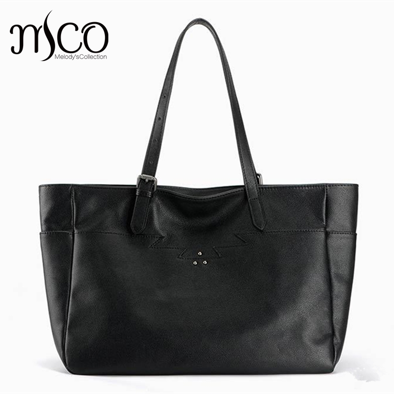 Women Large Capacity Casual Tote Luxury Handbag Genuine Leather Cowhide Ladies Shoulder Bag Fashion Designer Black Shopping Bag 2017 esufeir brand genuine leather women handbag fashion shoulder bag solid cowhide composite bag large capacity casual tote bag