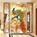 Costura, DMC DIY blooming flores de pavo real de punto de cruz, la versión vertical de magnolia de seda series, pared Casa Decro