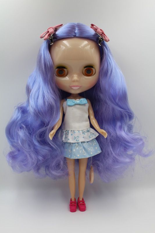 Free Shipping Transparent RBL-345T DIY Nude Blyth doll birthday gift for girl 4 colour big eyes with beautiful Hair cute toyFree Shipping Transparent RBL-345T DIY Nude Blyth doll birthday gift for girl 4 colour big eyes with beautiful Hair cute toy
