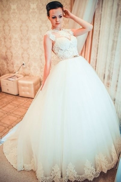 Vestido De Noiva Renda High Neck Spanish Lace Wedding ...