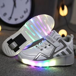 Children Boys Shoes with Sole Enfant Light Glowing Luminous Sneakers Girls Shoes Kids Led Slippers Luminous Sneakers Size 30-40