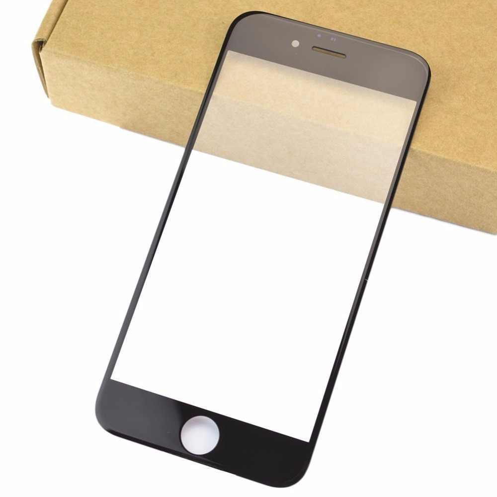 100% איכות קדמי LCD מגע מסך חיצוני זכוכית עדשת החלפת iPhone 5 5S 6 6 s קדמי זכוכית תיקון החלפה עם כלים