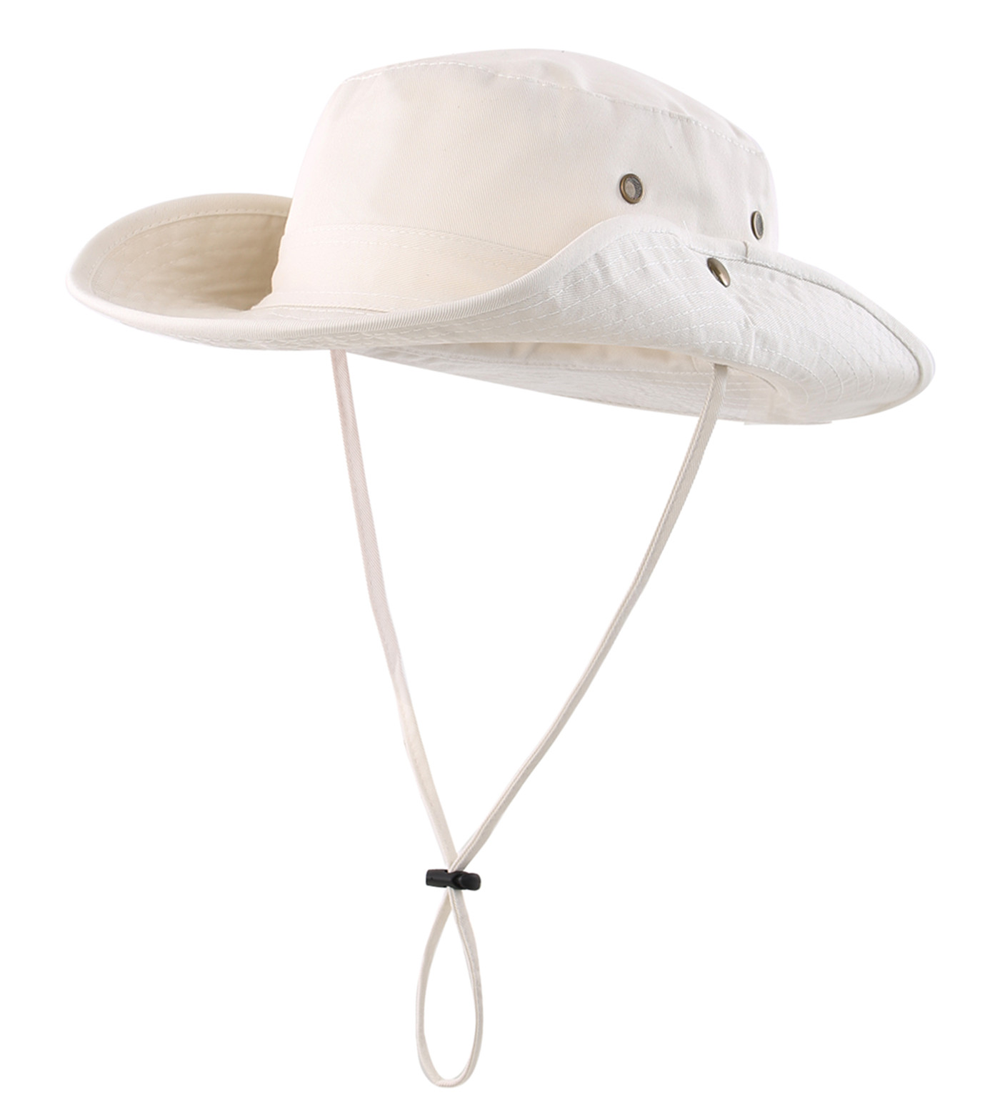 Connectyle Men's Women Boonie Sun Hat Wide Brim Breathable Cotton Safari Hat With Strap