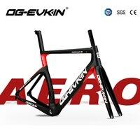 2018 T1000 Carbon Bike Road Frame UD Matte BSA Bicycle Frameset Carbon Road UD Di2 And Mechanism Headset 1 1/8 1 1/2 OG EVKIN