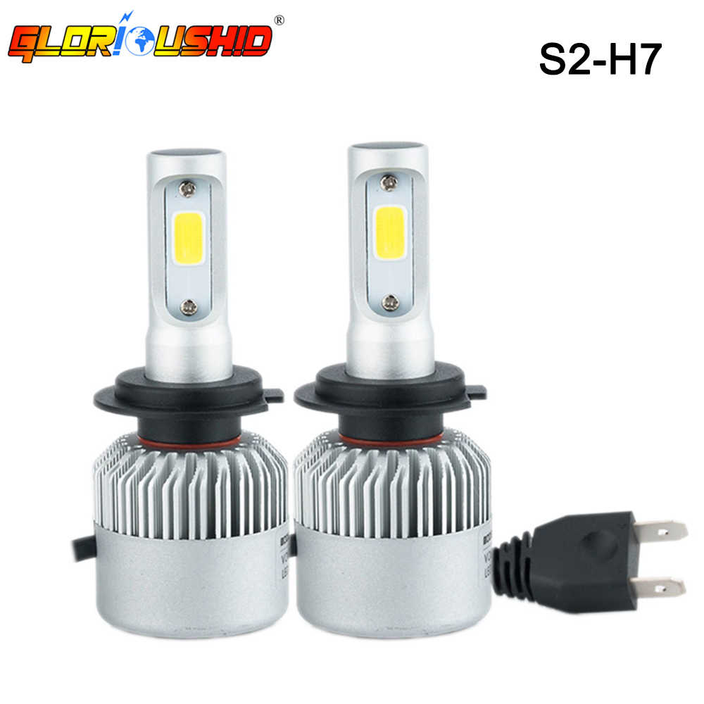 2Pcs H7 LED Headlight Bulb Turbo Led H4 Car Lamp 8000LM 6500k Automobiles Headlamp Auto Light Bulbs 12V 24V